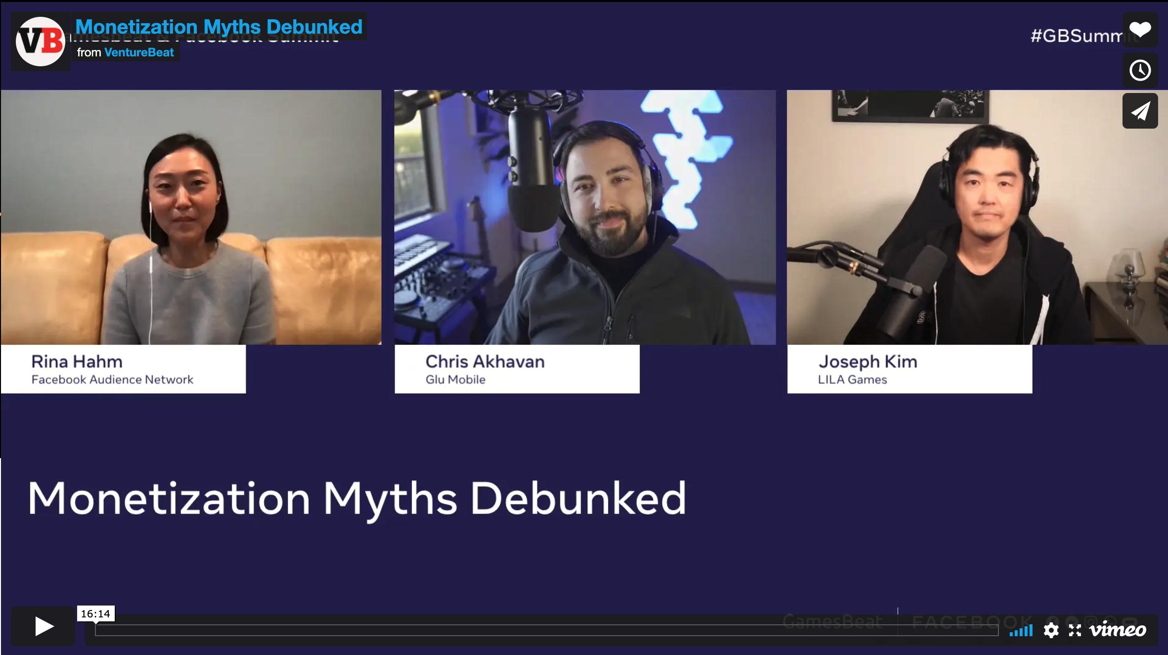 GamesBeat Panel on Ad Monetization