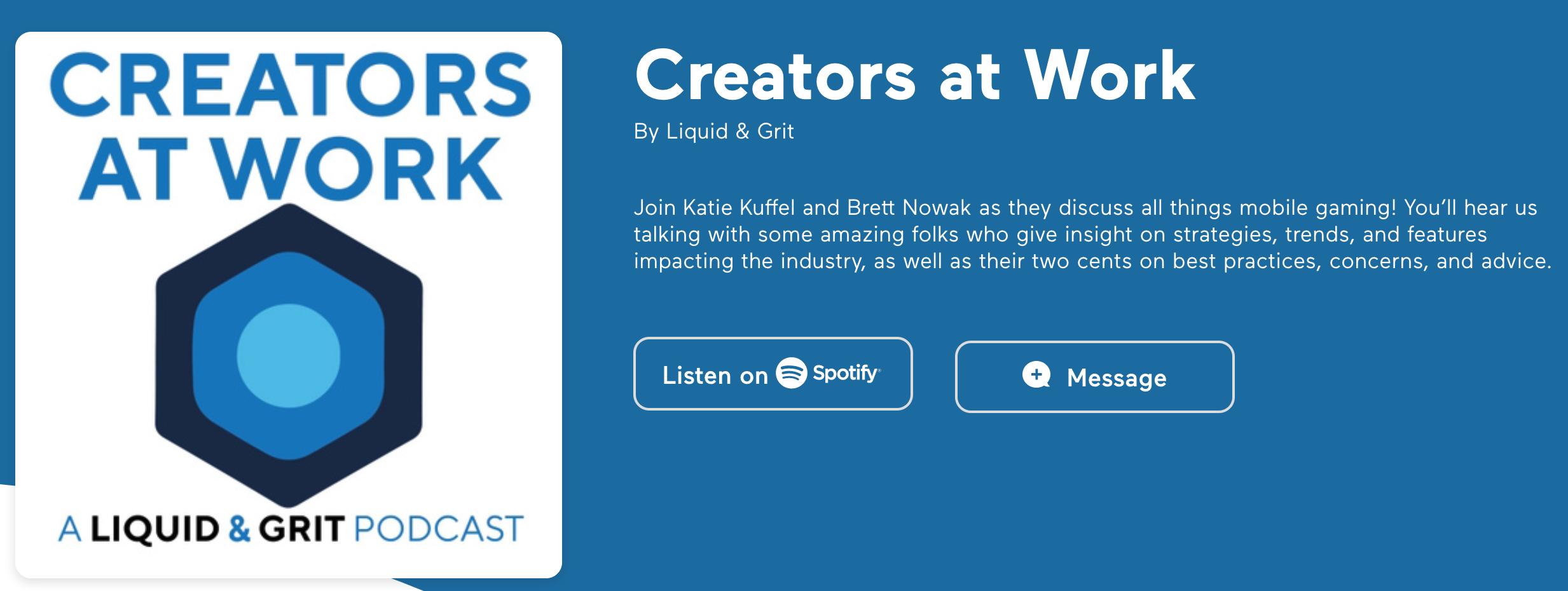 JK on Creators at Work Podcast